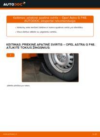 Kaip atlikti keitimą: 1.6 16V (F08, F48) Opel Astra g f48 Vikšro Valdymo Svirtis