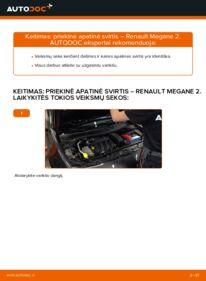 Kaip atlikti keitimą: 1.6 RENAULT MEGANE II Saloon (LM0/1_) Vikšro Valdymo Svirtis
