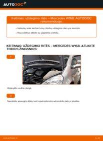 Kaip atlikti keitimą: A 140 1.4 (168.031, 168.131) Mercedes W168 Uždegimo ritė
