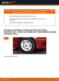 Kaip atlikti keitimą: 330Ci 3.0 BMW 3 Convertible (E46) Stabilizatoriaus įvorė
