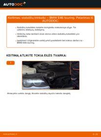 Kaip atlikti keitimą: 320d 2.0 BMW 3 Touring (E46) Stabdžių Kaladėlės