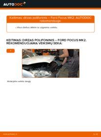Kaip atlikti keitimą: 1.6 TDCi Ford Focus mk2 Sedanas V formos rumbuotas diržas