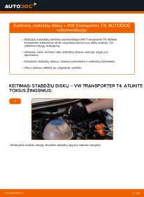 Kaip atlikti keitimą: 2.5 TDI VW T4 Transporter Stabdžių diskas