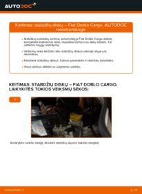 Kaip atlikti keitimą: 1.9 JTD Fiat Doblo Cargo Stabdžių diskas