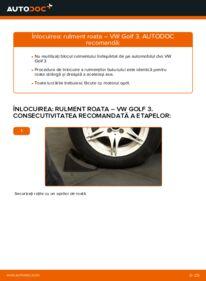 Cum să efectuați înlocuirea: Rulment roata la 2.8 VR6 Golf 3