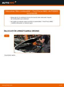 Cum să efectuați înlocuirea: Filtru combustibil la 1.6 TDCi Ford Focus mk2 Sedan