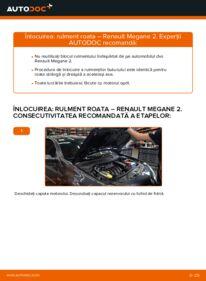 Cum să efectuați înlocuirea: Rulment roata la 1.6 RENAULT MEGANE II Saloon (LM0/1_)