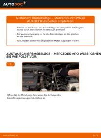 Wie der Wechsel durchführt wird: Bremsbeläge 112 CDI 2.2 (638.194) Mercedes W638 Bus tauschen