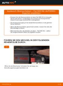 Wie der Wechsel durchführt wird: Bremsscheiben 1.2 Fiat 500 312 tauschen