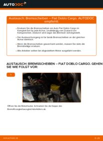 Wie der Wechsel durchführt wird: Bremsscheiben 1.9 JTD Fiat Doblo Cargo tauschen