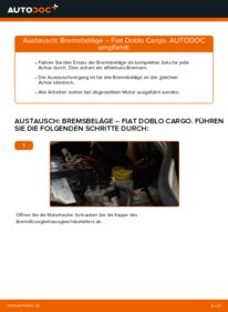 Wie der Wechsel durchführt wird: Bremsbeläge Fiat Doblo Cargo 1.9 JTD 1.3 D Multijet 1.9 D tauschen