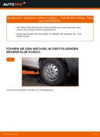 Wie der Wechsel durchführt wird: Querlenker 1.9 JTD Fiat Doblo Cargo tauschen
