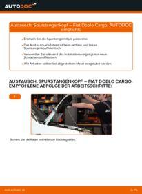 Wie der Wechsel durchführt wird: Spurstangenkopf 1.9 JTD Fiat Doblo Cargo tauschen