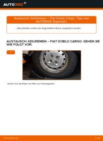 Wie der Wechsel durchführt wird: Keilrippenriemen 1.9 JTD Fiat Doblo Cargo tauschen
