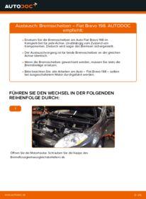 Wie der Wechsel durchführt wird: Bremsscheiben 1.9 D Multijet FIAT BRAVO II (198) tauschen
