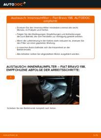 Wie der Wechsel durchführt wird: Innenraumfilter 1.9 D Multijet FIAT BRAVO II (198) tauschen