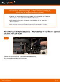 Wie der Ersatz vollführt wird: Bremsbeläge am MERCEDES-BENZ VITO