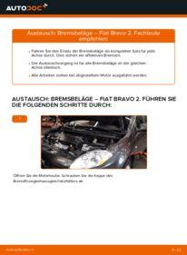 Wie der Ersatz vollführt wird: Bremsbeläge am 1.9 D Multijet FIAT BRAVO II (198)