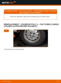 Comment effectuer un remplacement de Courroie Trapézoïdale à Nervures sur 1.9 JTD Fiat Doblo Cargo