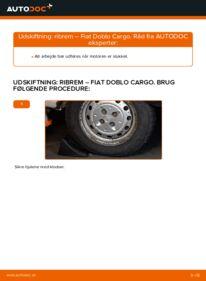 Hvordan man udfører udskiftning af: Kileribberem på 1.9 JTD Fiat Doblo Cargo