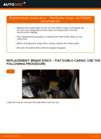 How to carry out replacement: Brake Discs on 1.9 JTD Fiat Doblo Cargo