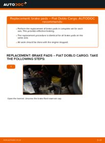 How to carry out replacement: Brake Pads on 1.9 JTD Fiat Doblo Cargo