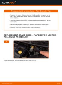 How to carry out replacement: Brake Discs on FIAT BRAVA