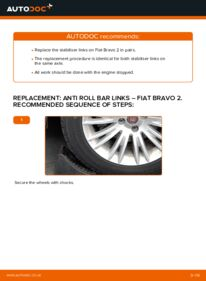 How to carry out replacement: Anti Roll Bar Links on FIAT BRAVA