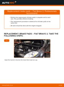 How to carry out replacement: Brake Pads on FIAT BRAVA