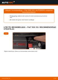 Så byter du Bromsbelägg på 1.2 Fiat 500 312