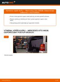 Ako vykonať výmenu: Vzpery Kufra na 112 CDI 2.2 (638.194) Mercedes W638 Bus