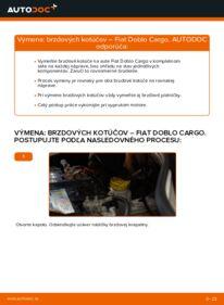 Ako vykonať výmenu: Brzdový kotouč na 1.9 JTD Fiat Doblo Cargo