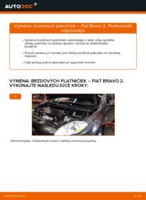 Ako vykonať výmenu: Brzdové Platničky na 1.9 D Multijet FIAT BRAVO II (198)