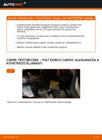 Hogyan végezze a cserét: FIAT DOBLO Féktárcsa