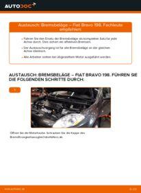 Wie der Wechsel durchführt wird: Bremsbeläge 1.9 D Multijet FIAT BRAVO II (198) tauschen