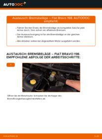 Wie der Wechsel durchführt wird: Bremsbeläge FIAT BRAVO II (198) 1.9 D Multijet 1.6 D Multijet 1.4 tauschen
