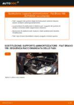 PDF manuale di sostituzione: Supporto ammortizzatore FIAT BRAVO II (198) posteriore e anteriore