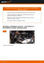 Pakeisti Rankinio Stabdžio Trosas FIAT BRAVA: instrukcija