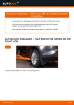 Schritt-für-Schritt-PDF-Tutorial zum Bremssattel Reparatursatz-Austausch beim FIAT BRAVO II (198)
