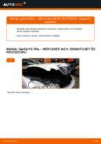 Mercedes W211: gaisa filtrs – nomaiņas rokasgrāmata
