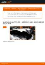 Anleitung: Mercedes W211 Luftfilter wechseln