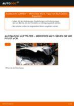 Luftfilter wechseln: Mercedes W211 - Schritt für Schritt Anleitung