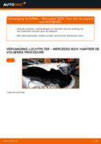 PDF handleiding voor vervanging: Luchtfilter MERCEDES-BENZ E-Klasse Sedan (W211)