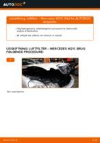 Udskiftning af Luftfilter: pdf vejledning til MERCEDES-BENZ E-CLASS