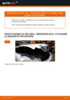 Sostituzione filtro aria: Mercedes W211 | Istruzioni