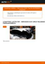 Skifte luftfilter: Mercedes W211 | Steg for steg
