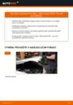 Instalace Brzdové obloženie MERCEDES-BENZ E-CLASS (W211) - příručky krok za krokem