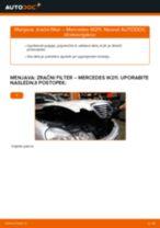 Brezplačna spletna navodila kako obnoviti Zracni filter MERCEDES-BENZ E-CLASS (W211)