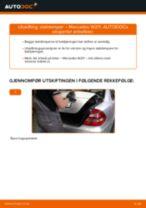 Skifte Fjærbein MERCEDES-BENZ E-CLASS: gratis pdf