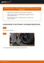Skifte Fjæring: pdf instruksjoner for MERCEDES-BENZ E-CLASS